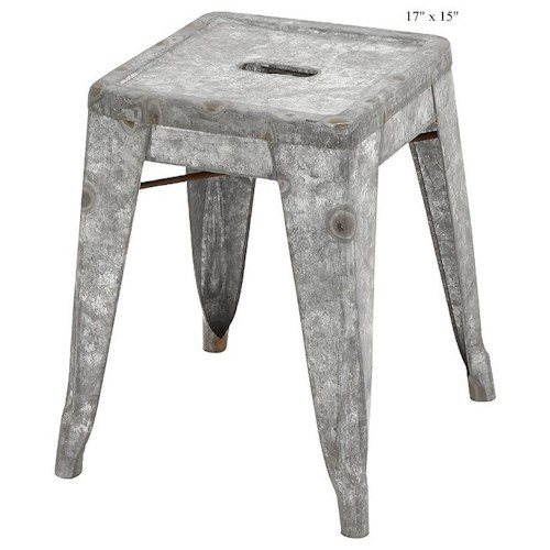 Will's Company Accents Galvanized Stool 17