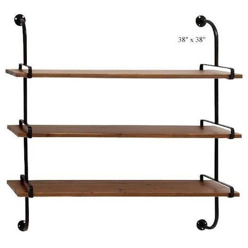Will's Company Accents 3 Shelf Wall Unit - 38