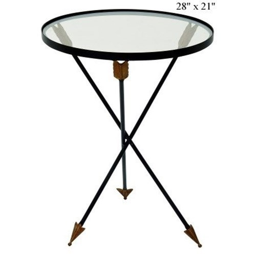 Will's Company Accents Arrow Glass Table 21