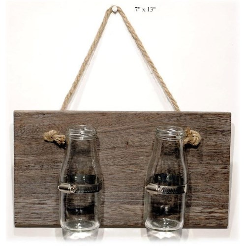 Will's Company Accents Industrial Double Jar Wall Hanger - 7