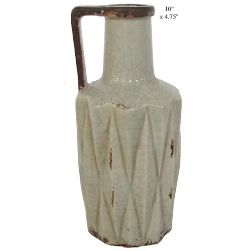 Will's Company Accents Vase with Handle - 10