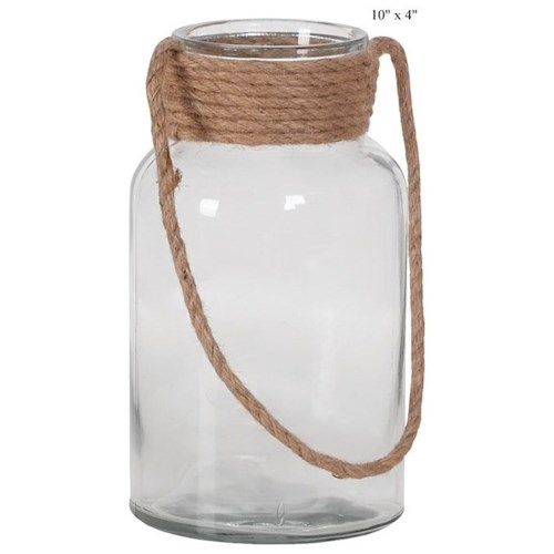 Will's Company Accents Jar with a Rope Handle - 10
