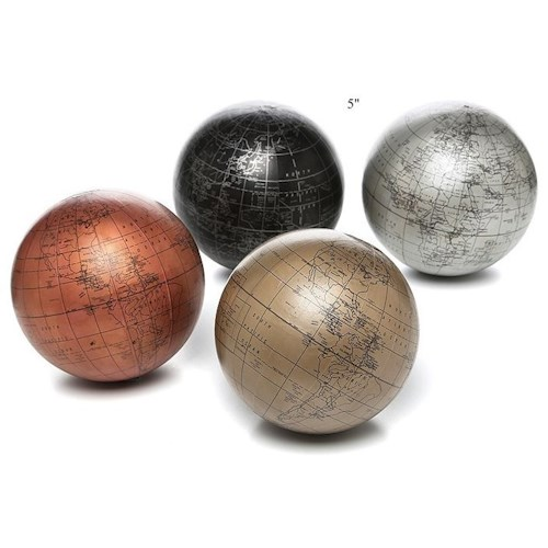 Will's Company Accents Set of 4 'Metallic' Globe Balls - 5