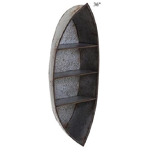 Will's Company Accents Nelson Canoe Wall Shelf - 36