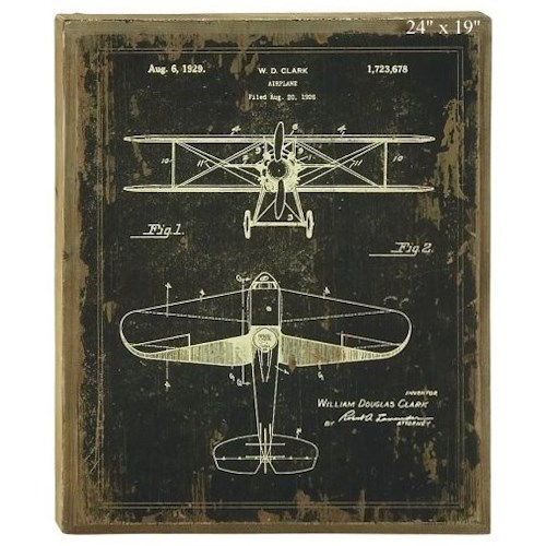 Will's Company Accents Plane Blueprint Wall Art - 19