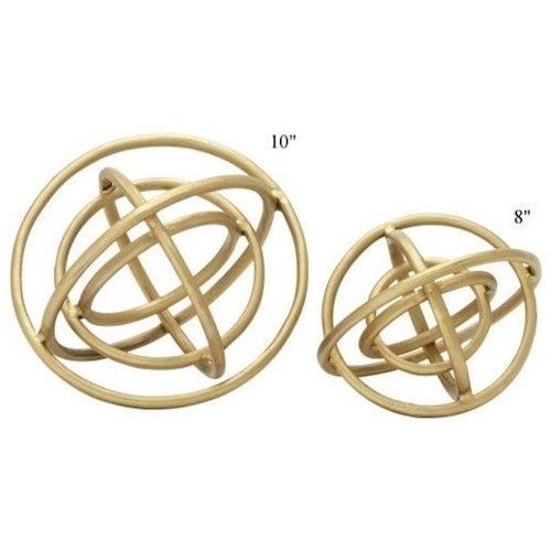 Will's Company Accents Set of 2 Ring Orbs - 8