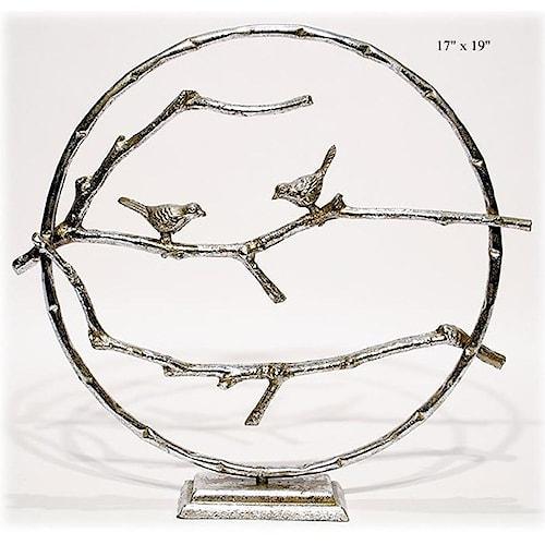 Will's Company Accents Circle Bird Table Art 19