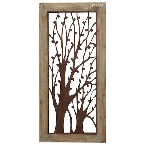Will's Company Accents Framed Tree Wall Plaque - 54
