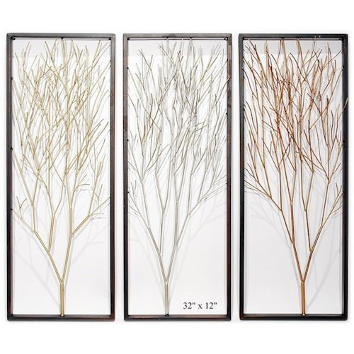 Will's Company Accents Set of 3 Framed Tree Wall Panels - 32