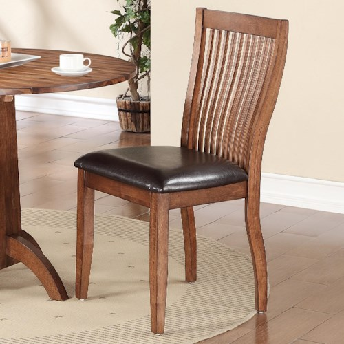 Winners Only Broadway Slat Back Side Chair With Upholstered Seat Pilgrim Furniture City