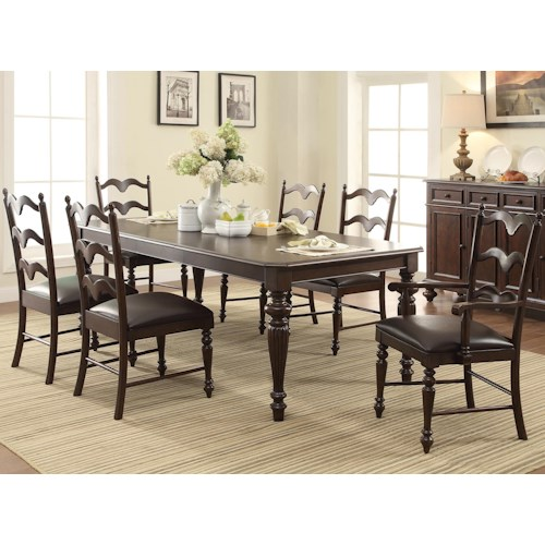 Winners Only Cambridge 7 Piece Dining Set with 20