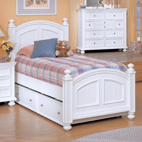 Winners Only Yarmouth Twin Panel Bed & Trundle Box