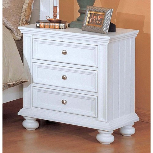 Winners Only Cape Cod  3 Drawer Nightstand