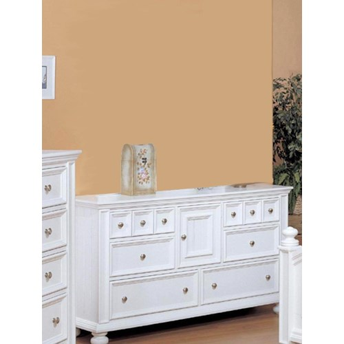 Winners Only Yarmouth 6 Drawer Dresser with One Door