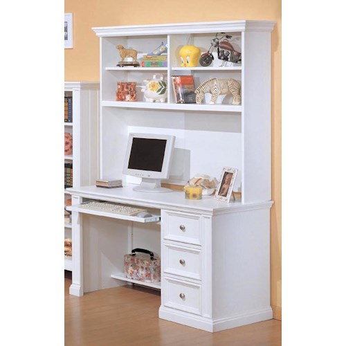 Winners Only Yarmouth Youth Desk with Hutch and Keyboard Pullout Drawer