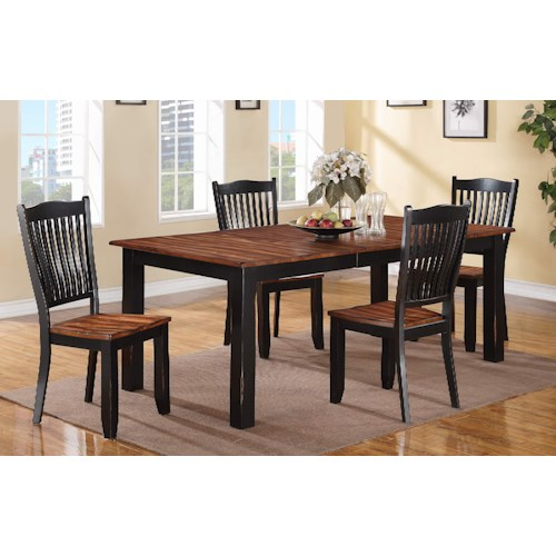 Winners Only Carson Table and Slat Back Chair Set