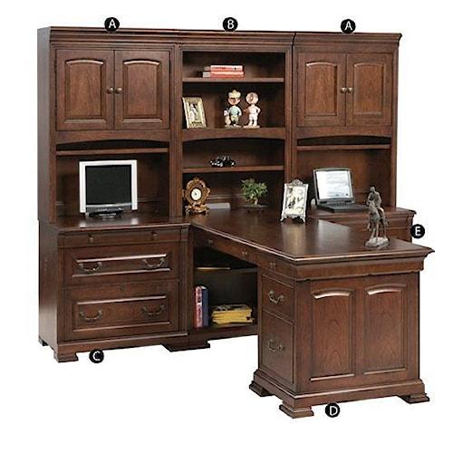 Winners Only Classic 6 Piece Desk Unit