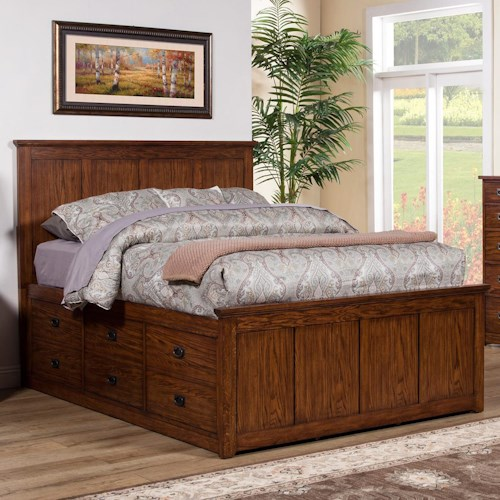Winners Only Colorado Queen Storage Bed with 6 Drawers