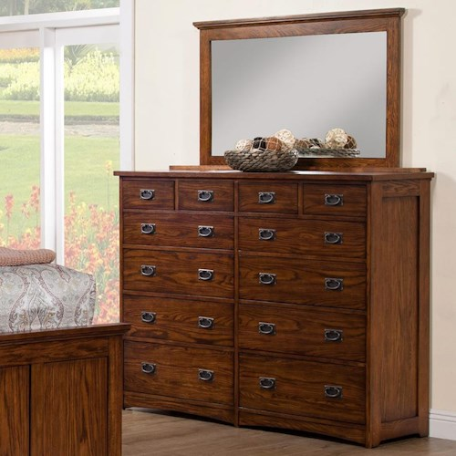 Winners Only Colorado 12-Drawer Dresser and Mirror Set