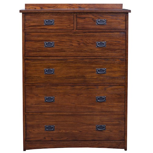 Winners Only Colorado 6-Drawer Chest with Felt-Lined Top Drawers
