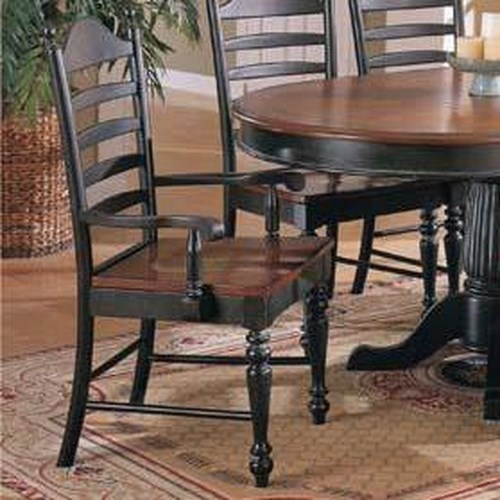 Winners Only Cottage Ladderback Arm Dining Chair