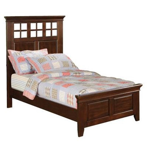 Winners Only Del Mar Twin Size Lattice Headboard Panel Bed