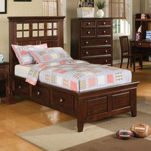 Winners Only Del Mar Full Size Country Style Storage Bed