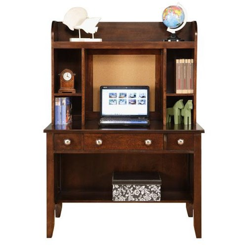 Winners Only Del Mar 3-Drawer Desk and Hutch with Bulletin Board