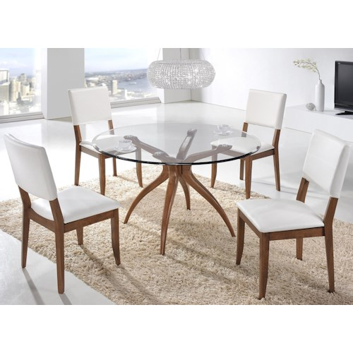 Winners Only Denmark 5 Piece Dining Set with Round Table