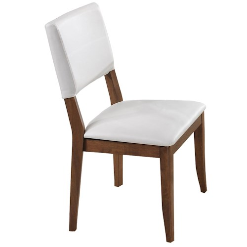 Winners Only Denmark Upholstered Side Chair with Tapered Legs