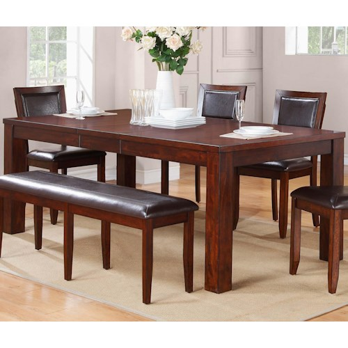 Winners Only Fallbrook Rectangular Leg Table with Butterfly Leaf