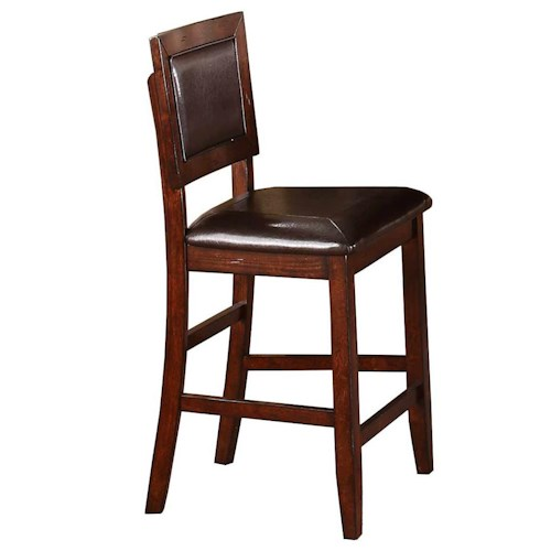 Winners Only Fallbrook Cushioned Back Counter Height Barstool