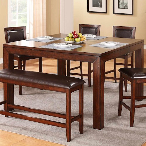 Winners Only Fallbrook Counter Height Leg Table with Butterfly Leaf
