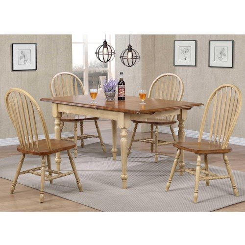 Winners Only Farmington 5 Piece Country Dining Set