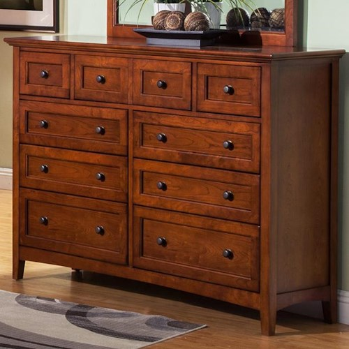 Winners Only Flagstaff 9 Drawer Dresser with Drop Front