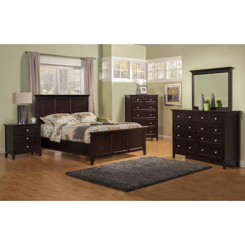 Winners Only Flagstaff King Bedroom Group