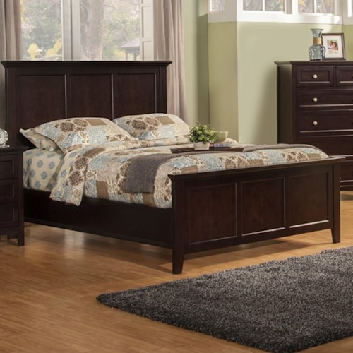 Winners Only Flagstaff Cal King Panel Bed with Tapered Feet