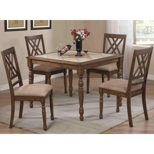Winners Only Florence 5 Piece Counter Dining Set with Shelves