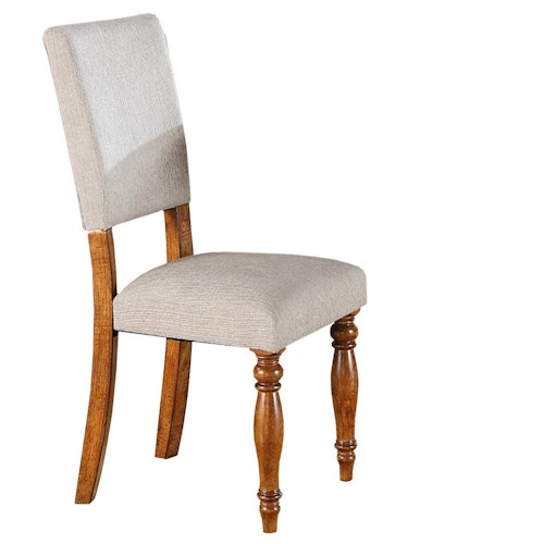 Winners Only Grand Estate Side Chair with Upholstered Seat and Back