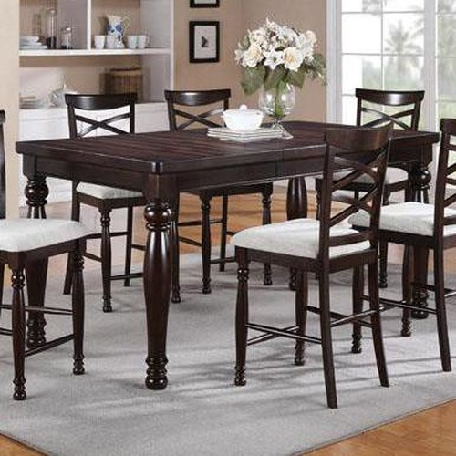 Winners Only Hamilton Park Tall Rectangular Dining Table with Turned Legs