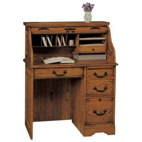 Winners Only Heritage Oak Roll Top Desk