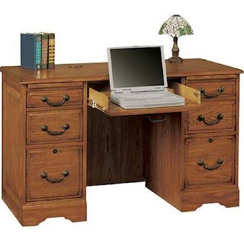 Winners Only Heritage Oak Oak Flattop Computer Desk