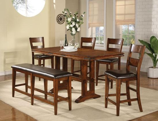 Shown with Barstools and Tall Bench