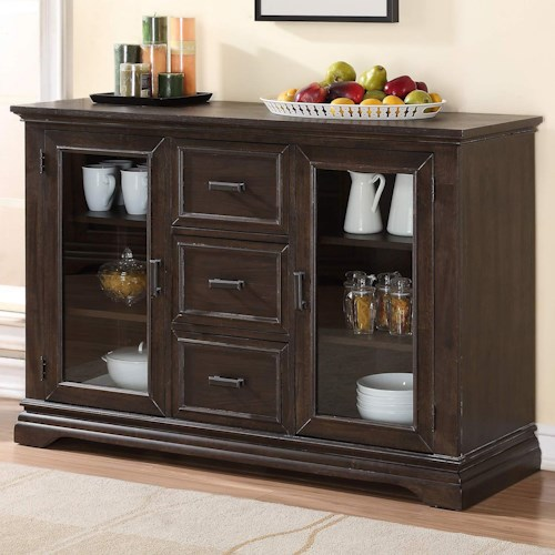 Winners Only Xcalibur Sideboard with 2 Glass Doors