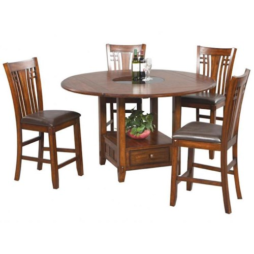 Winners Only Zahara 5 Piece Mission Style Pub Table  and Barstools