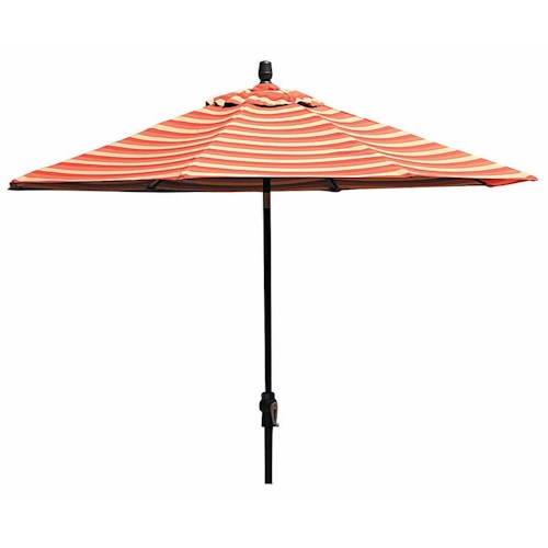 Winston Cast Aluminum Tables 9 Foot Aluminum Market Umbrella with Base