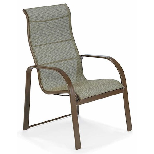 Winston Seagrove II Sling Ultimate High Back Sling Dining Chair with Aluminum Frame