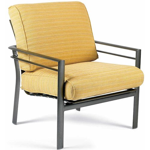 Winston Southern Cay Stationary Lounge Chair with Seat and Back Cushion