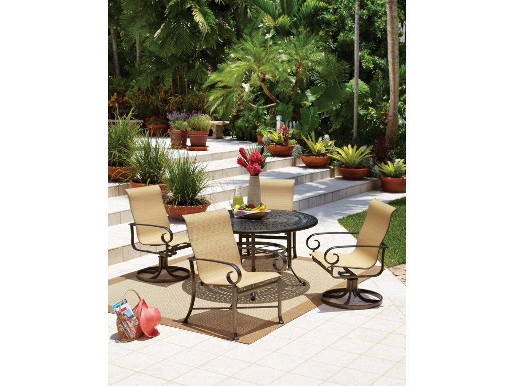 Shown with Sling Rocker and Cast Aluminum Table