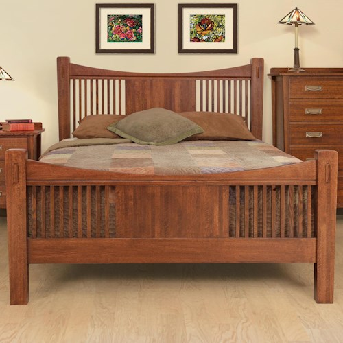 Witmer Furniture Heartland Queen Slat Panel Headboard & Footboard Bed